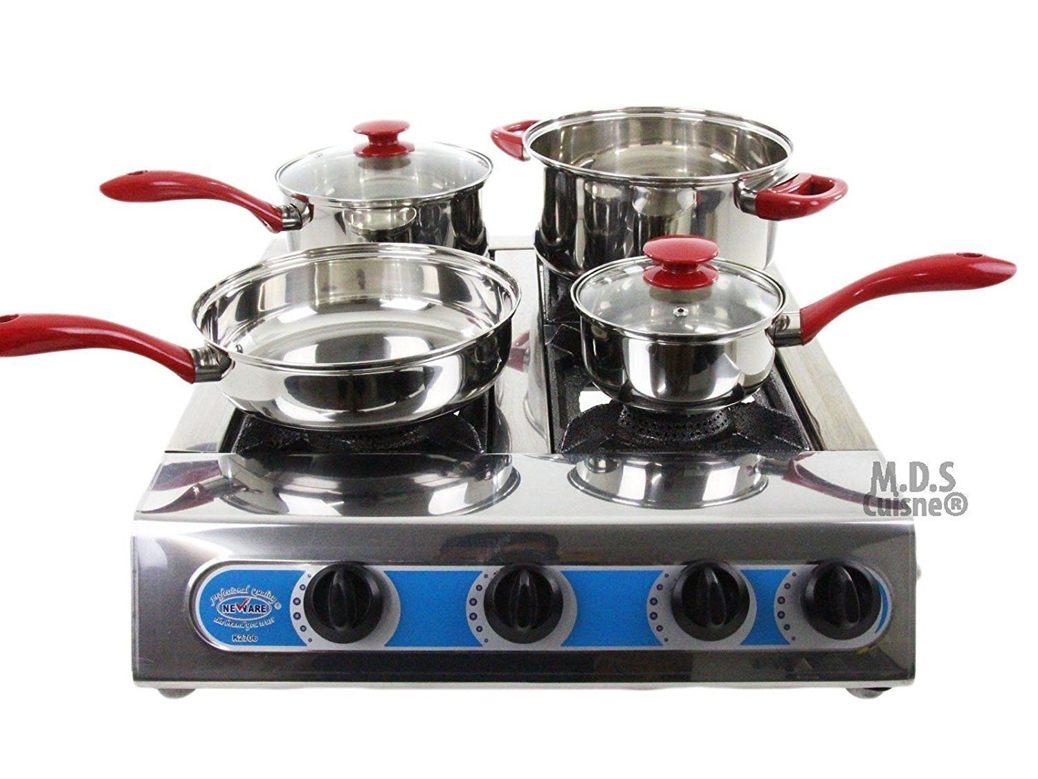 Portable 4 Quad Burner Propane Gas Camping 4 Heads Outdoor