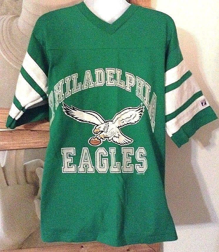 huge selection of b123c bedc2 Vintage 80's Philadelphia Eagles Green NFL Logo 7 Jersey ...