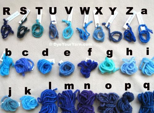 Colour chart for dyeing wool with food colouring | Dye your own yarn ...