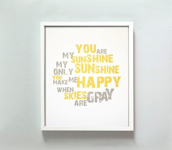 11x14 You Are My Sunshine print