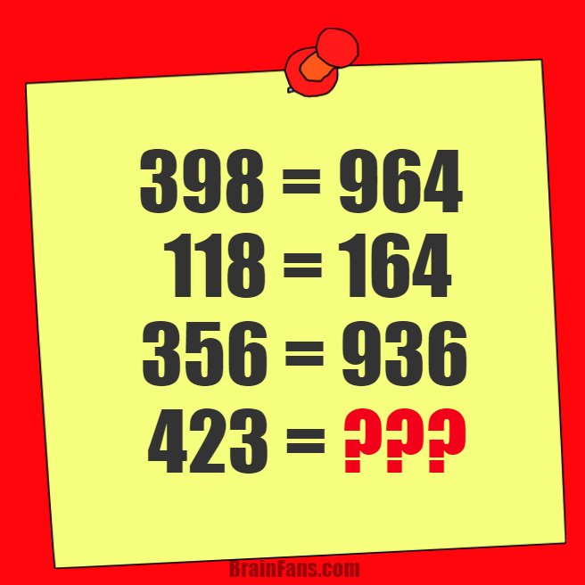 Brain Teaser Number And Math Puzzle Math Riddle With Answer Guess The Result Of 423 4 May Me Math Riddles With Answers Math Riddles Riddles With Answers