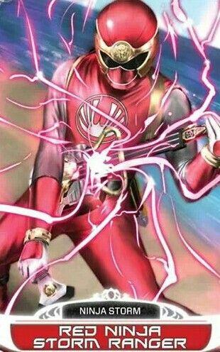 Red Ninja Storm Power Ranger | Power rangers | Power rangers ninja