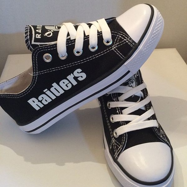 fetching how to design converse shoes at home. Stand out from the crowd with Oakland Raiders team spirit in these adorable  Converse style sneakers that have handmade designs Shoes http cutesportsfan com oakland