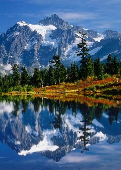 Mt. Shuksan mirrored in Picture Lake