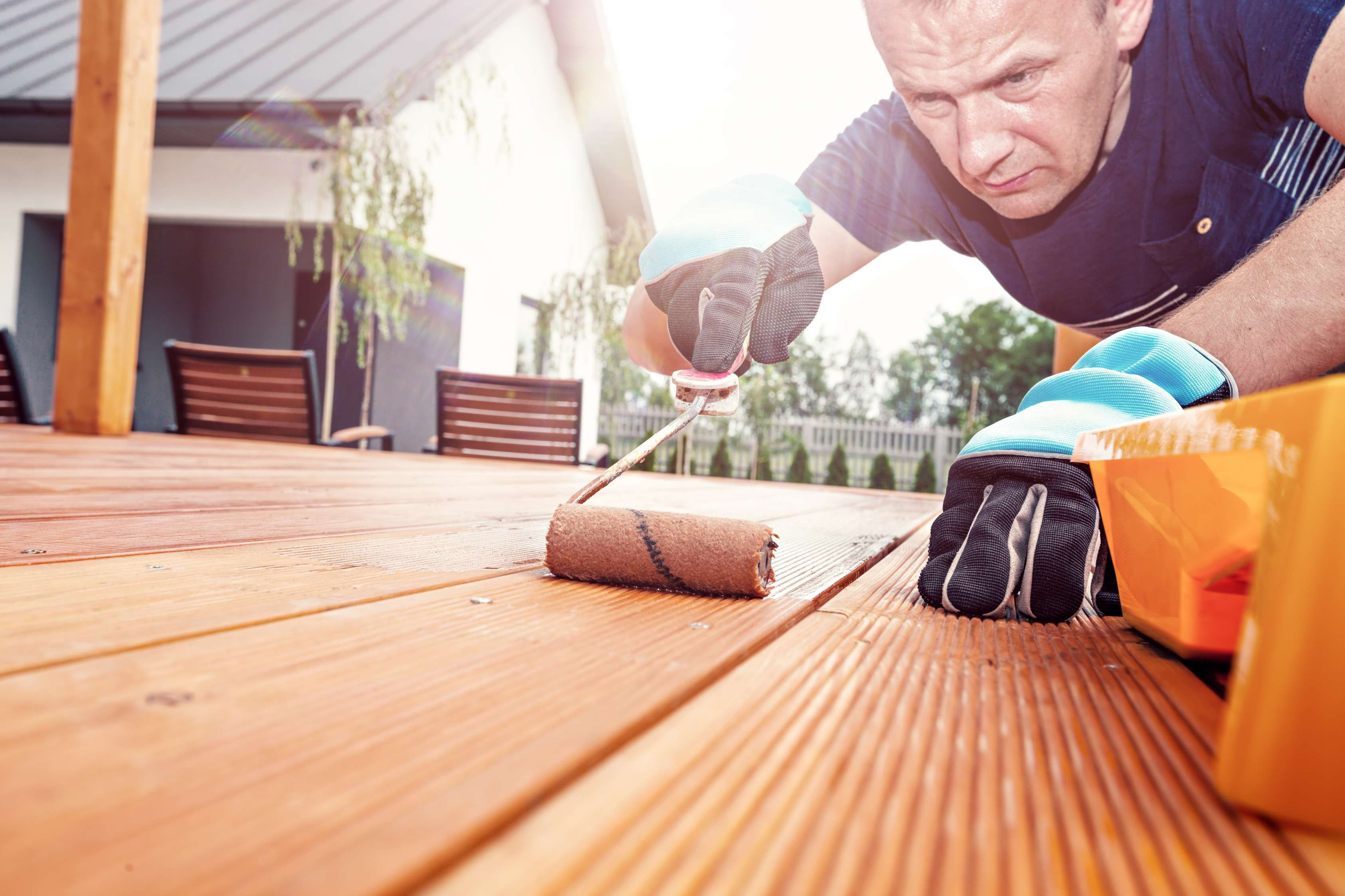 how to repaint a deck that is peeling