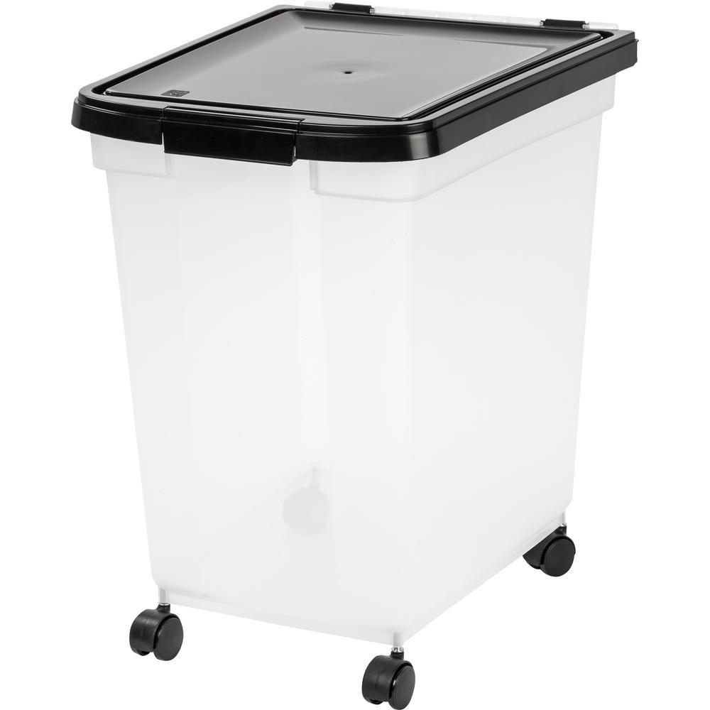 Iris 65 Qt Airtight Pet Food Storage Bin In Clear Pet Food