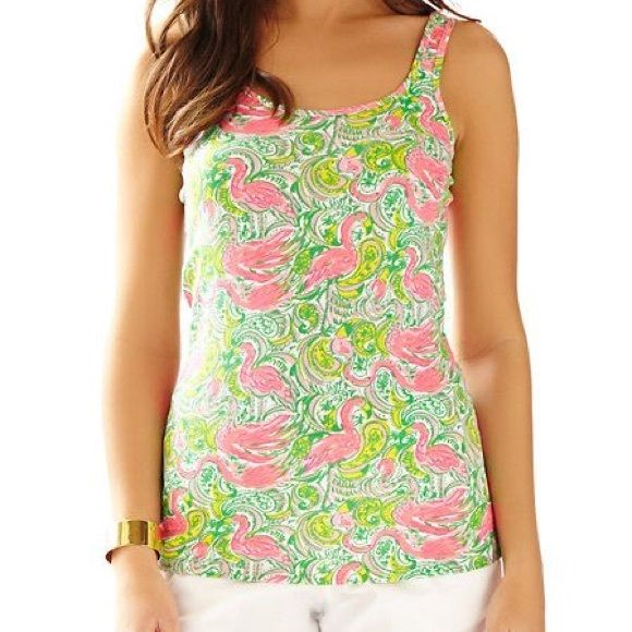 LILLY Super cute!! Worn once. Comfy great color! Large but fits tight. A medium could wear this! Lilly Pulitzer Tops Tank Tops