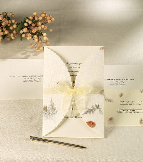 Wedding Invitation Diy Kits: Wilton Wedding Invitation Kit Pressed Floral, , Hi