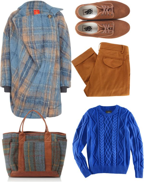 """""""blue and brown"""" by airora ❤ liked on Polyvore"""