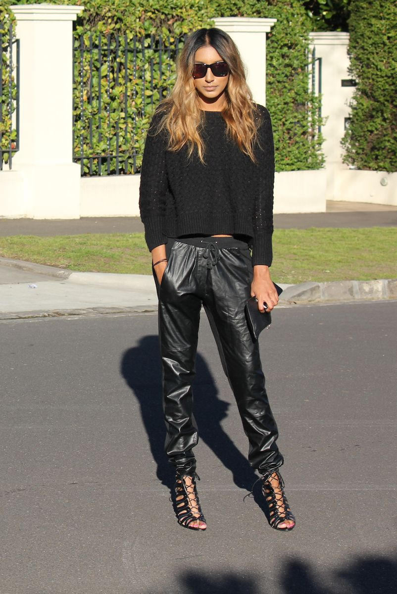 """The 3 most exciting words to come out of Kanye's mouth """"LEATHER JOGGING PANTS""""."""