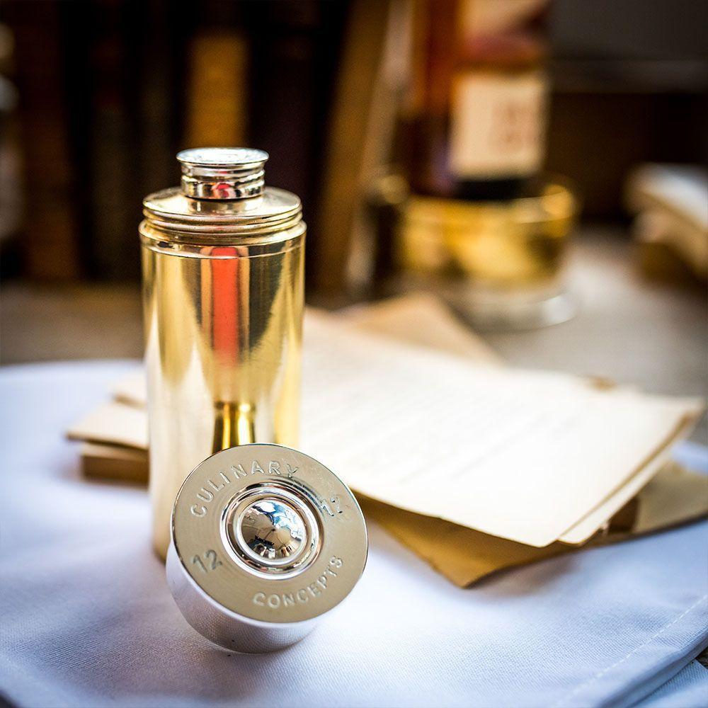 Cartridge cylindrical hip flask 4 fluid ounces pre