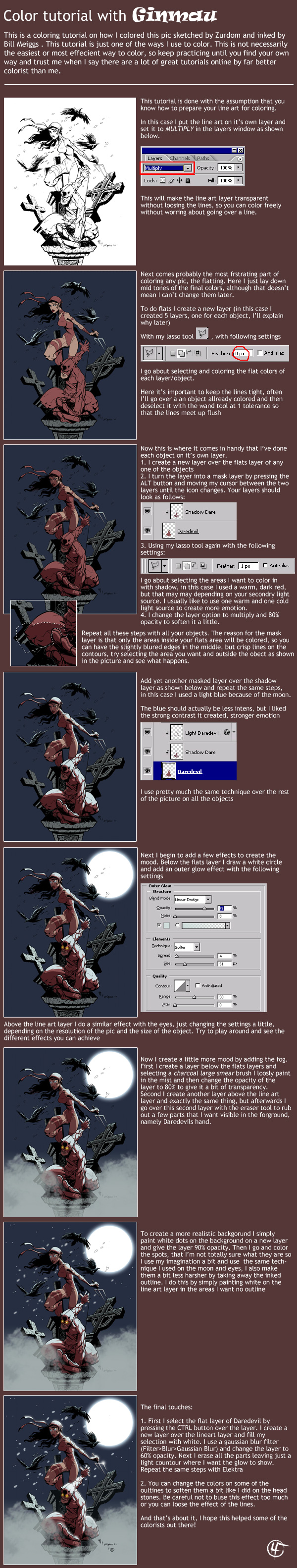 Comic Coloring Tutorial by ginmau | Drawing References: Colouring ...