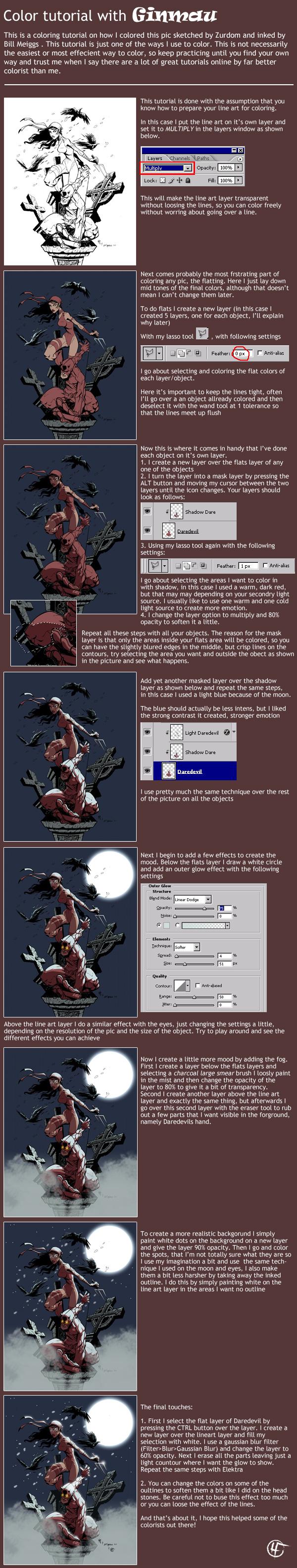 How To Color And Highlight A Comic Book Panel In Photoshop Pintura Digital Tutoriais Inspirador