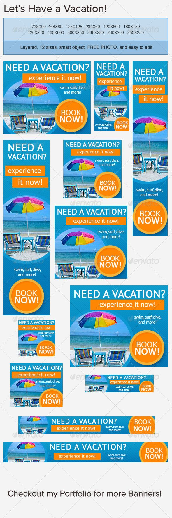 Vacation Banner Ad | Advertising, Company banner and Affiliate ...