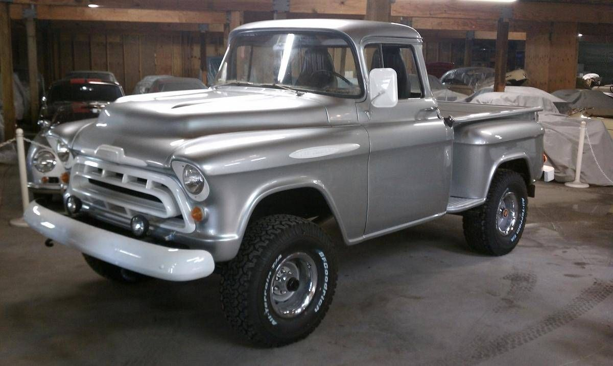Truck 1955 chevy apache truck for sale : 1957 Chevrolet Apache 3100 Short Bed Stepside | Chevy Apache ...