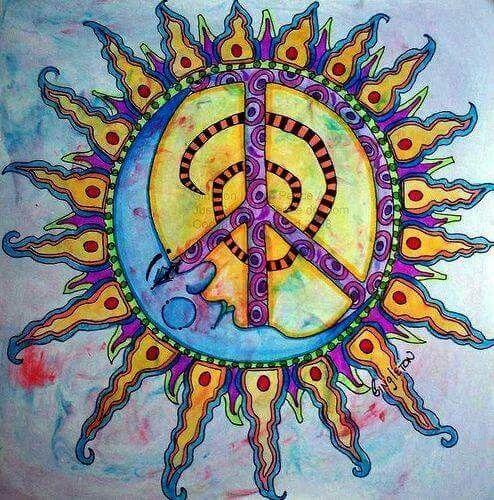 Peace Sign Art Peace Peace Sign Art Sun Art Hippie Art