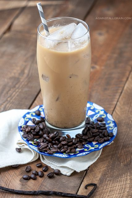 Iced Vanilla Bean Latte Dairy Free Scd Vegan Paleo Recipe Delicious Paleo Recipes Healthy Iced Coffee Paleo Drinks