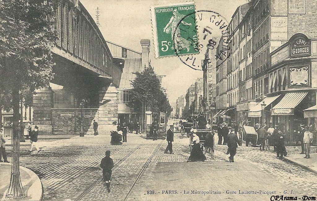 Le Metro La Motte Picquet Vers 1900 Photos Anciennes Metro Parisien Photos
