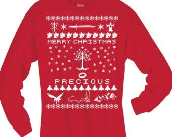 Lord Of The Rings Christmas Jumper.Lord Of The Rings Inspired Christmas Shirt Lotr Ugly
