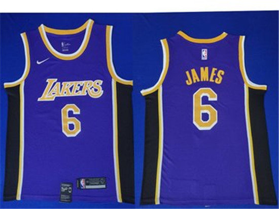 2020 Nike Los Angeles Lakers 6 Lebron James Purple Nba Swingman Statement Edition Jersey In 2020 Los Angeles Lakers Jersey Lebron James