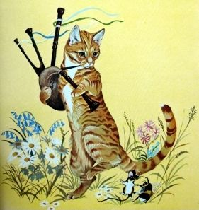 Image result for cat with bagpipes