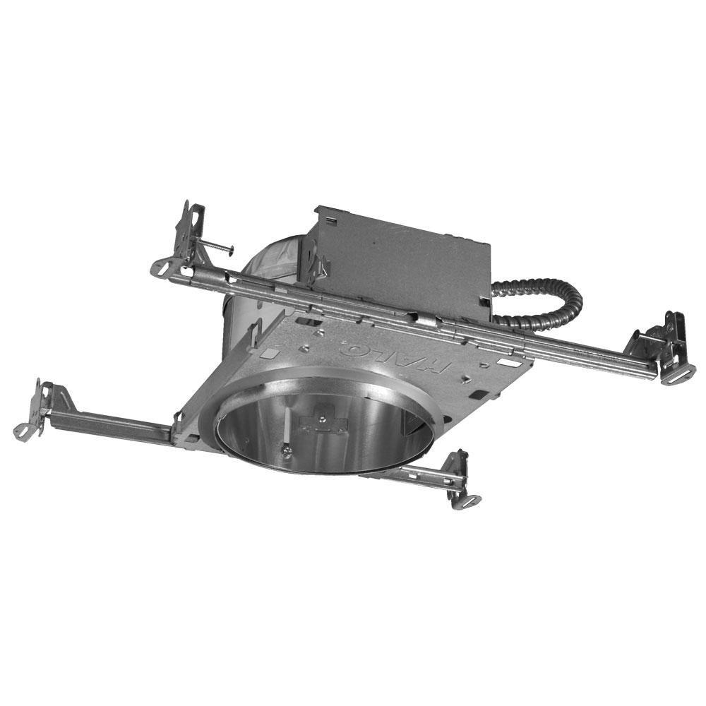 Halo H27 6 In Aluminum Recessed Lighting Housing For New Construction Shallow Ceiling Insulation Contact Air Tite H27icat Recessed Lighting Installing Recessed Lighting Led Recessed Lighting