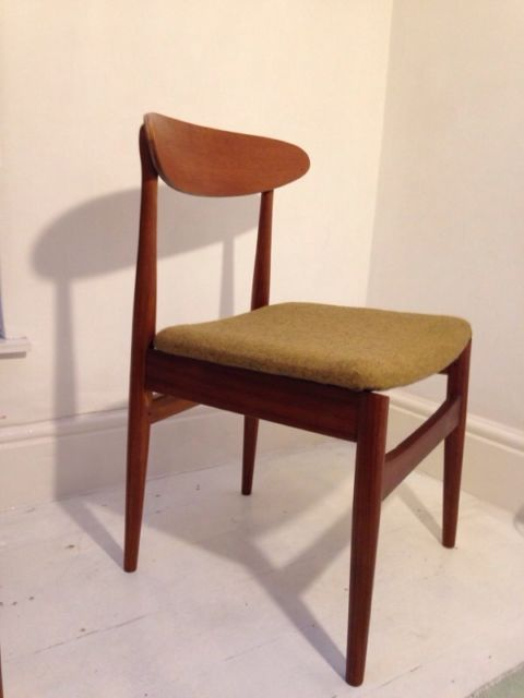 Mid Century Modern Dining Chairs Refurbished To A Good Standard