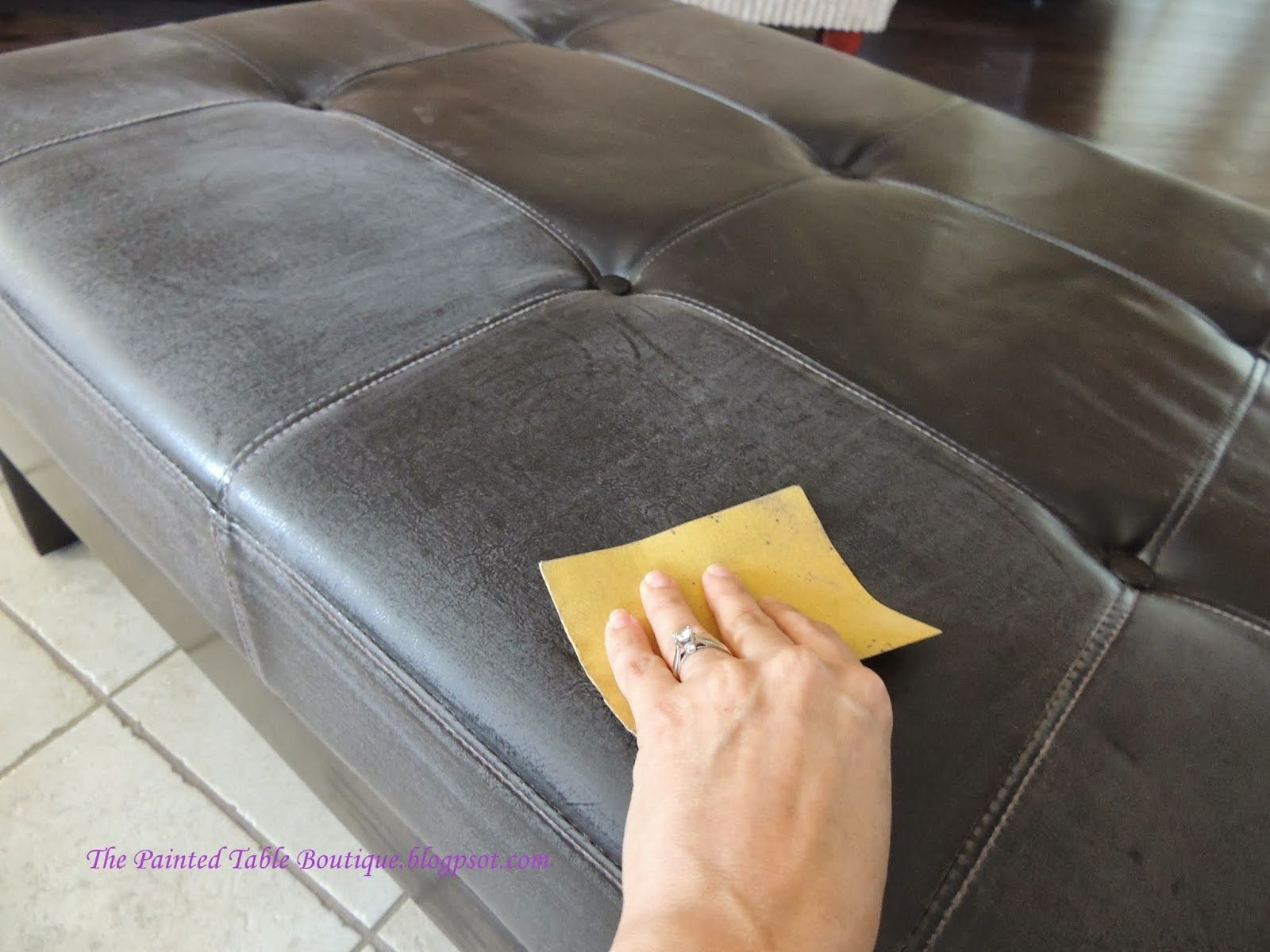 The Painted Table Boutique: YES!   Paint A Faux Leather Piece Of Furniture