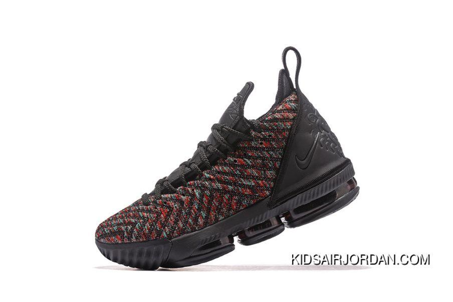 7d1cede4f95 2019 的 2018 Nike Lebron 16 Black Multicolor Mens Basketball Shoes ...