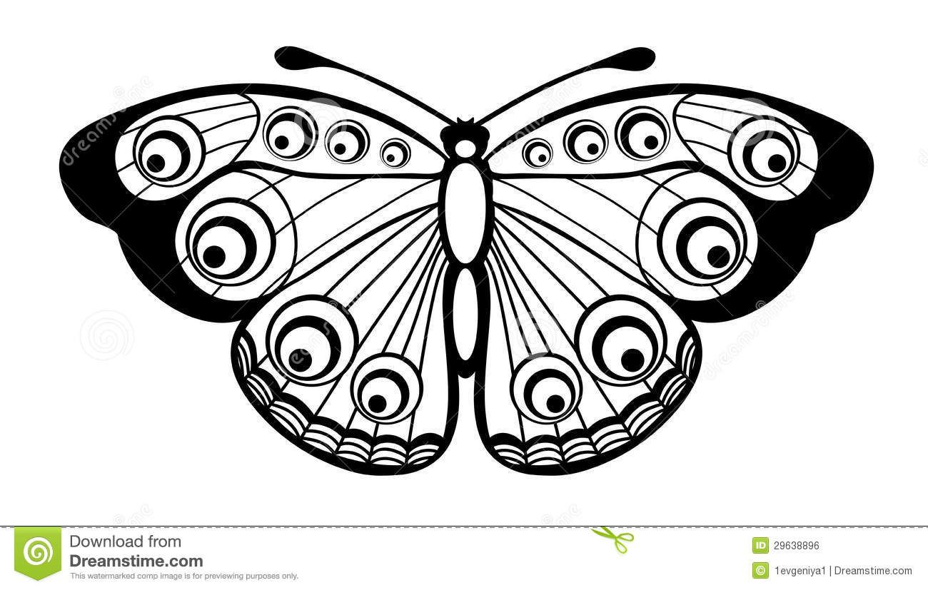 Beautiful Black And White Butterfly Isolated On White Butterfly Coloring Page Insect Coloring Pages Animal Coloring Pages [ 827 x 1300 Pixel ]