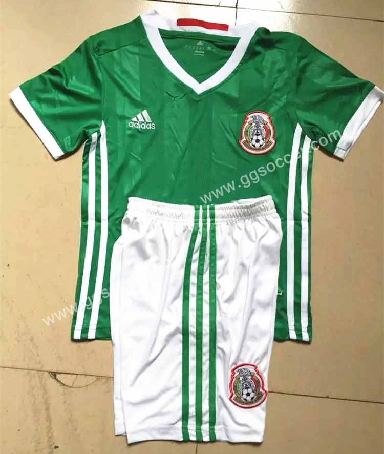 0641dcaed33 Cheap soccer jersey from topjersey 2016-17 Mexico Home Green Kid Youth  Soccer Uniform-Mexico