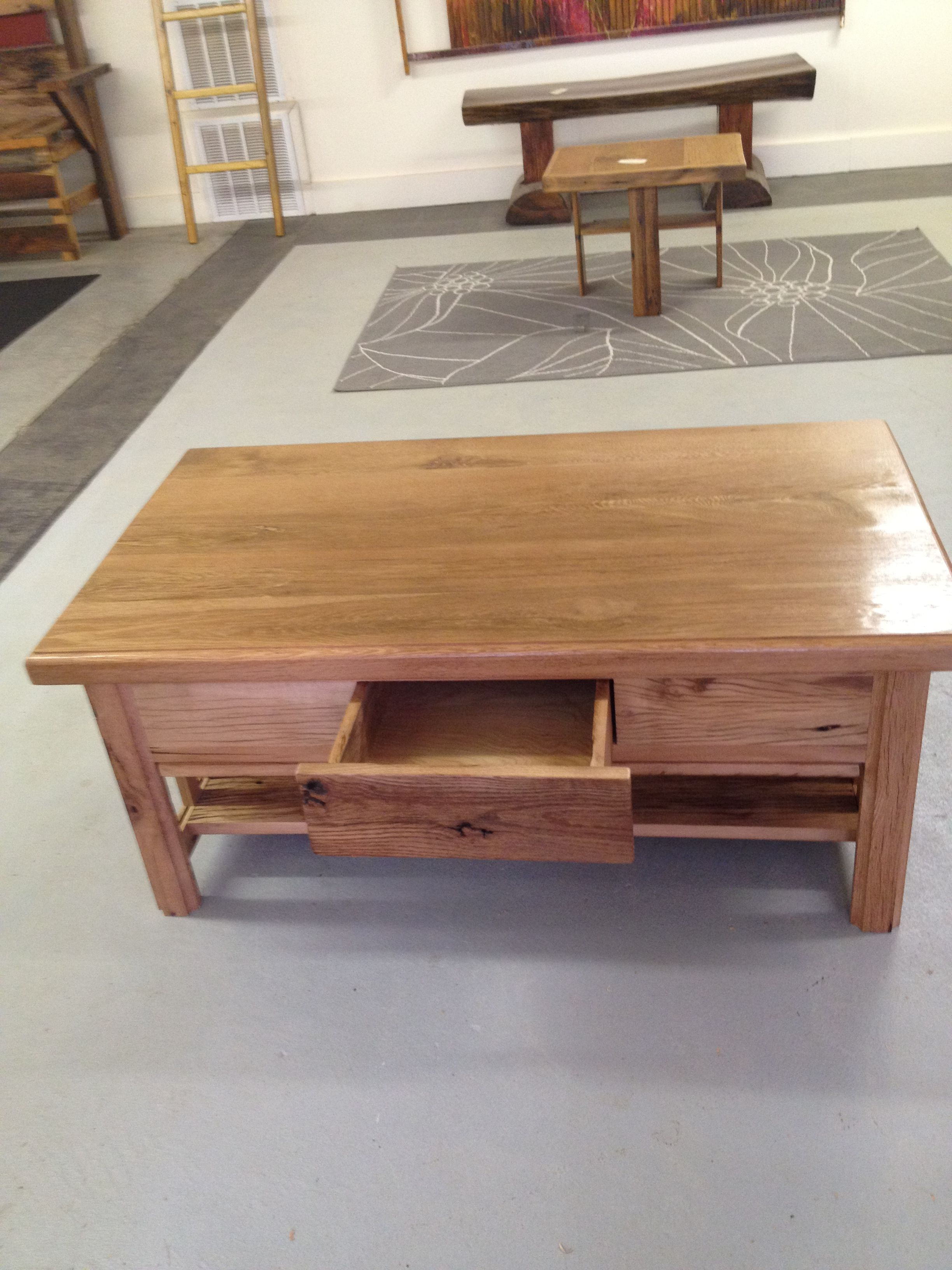 Coffee Table Made Out Of The Dad Old Barn Wood