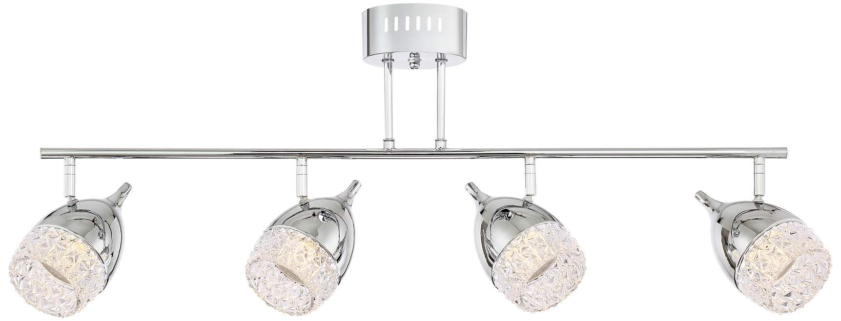 Possini Euro Goodwin Chrome Crystal Led Track Light Fixture 9j422 Lamps Plus Led Track Lighting Track Lighting Track Lighting Fixtures