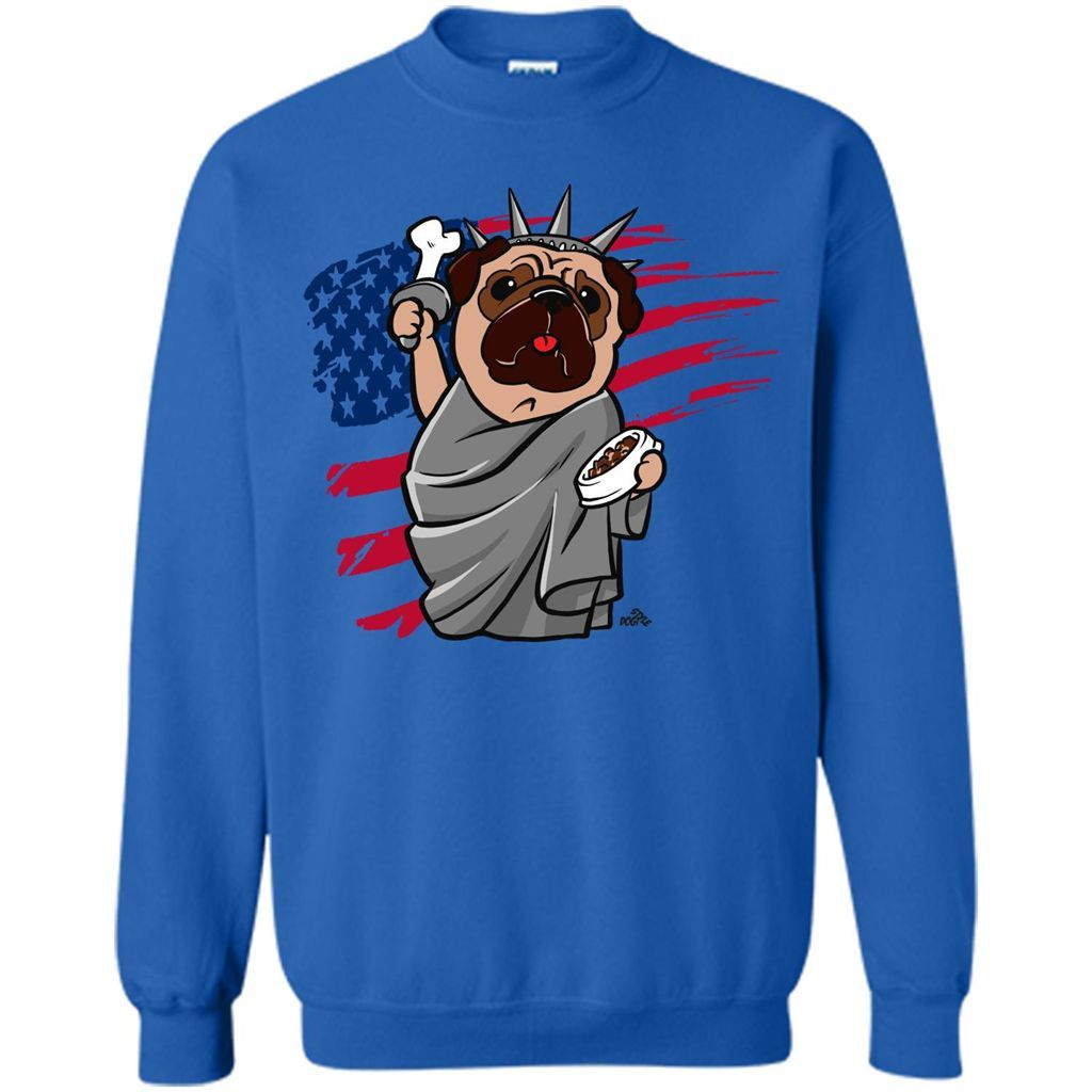 Funny 4th of July, Independence Day Pug Dog T-shirt