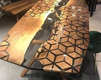 Custom order for Lauren, Hexagon Table,Honeycomb t