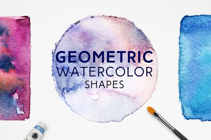 Geometric Watercolor Shapes By Freezeronmedia On Watercolor