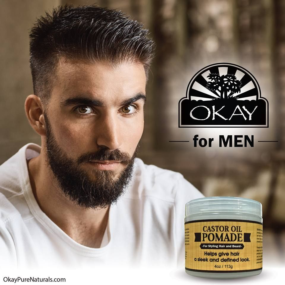 Men Castor Oil Beard And Hair Pomade For Styling Hair And Beard All Day Hold For A Sleek Defined Look Silicone Paraben Free For All Hair Types And Textur Hair