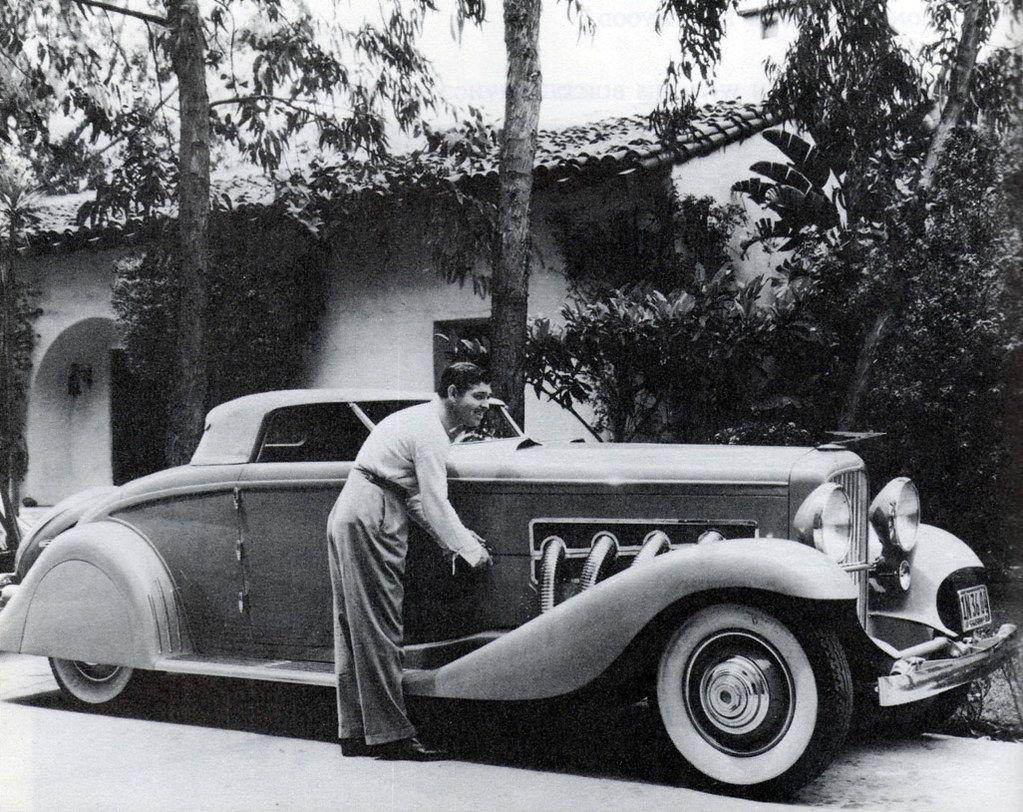 Clark Gable and his customised Duesenberg, 1930s | Laura Loveday | Flickr