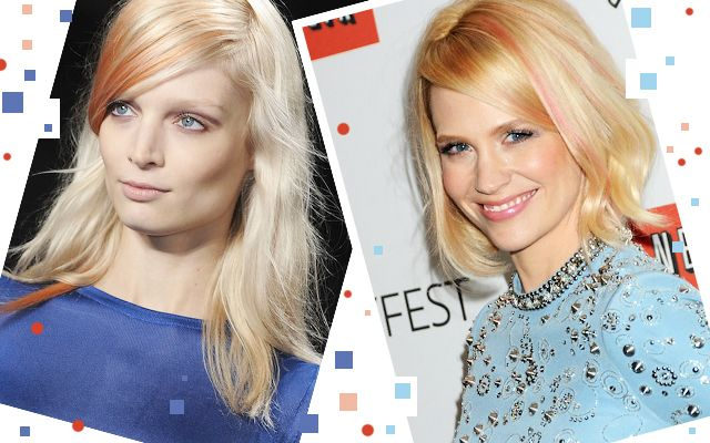 How To Get January Jones' Runway Inspired Rose-Gold Highlights
