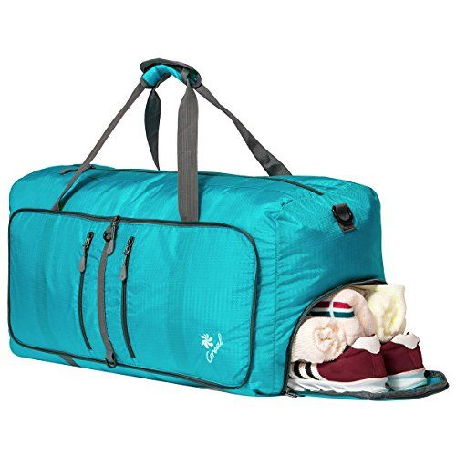 Coreal 80L Foldable Duffel Bag Packable Travel Luggage wi... https ... 739f1ae7b0b09