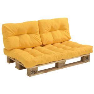 715543b1ab9b en.casa ® Paletový nábytok - vankúšová sada - horčicovo žltá