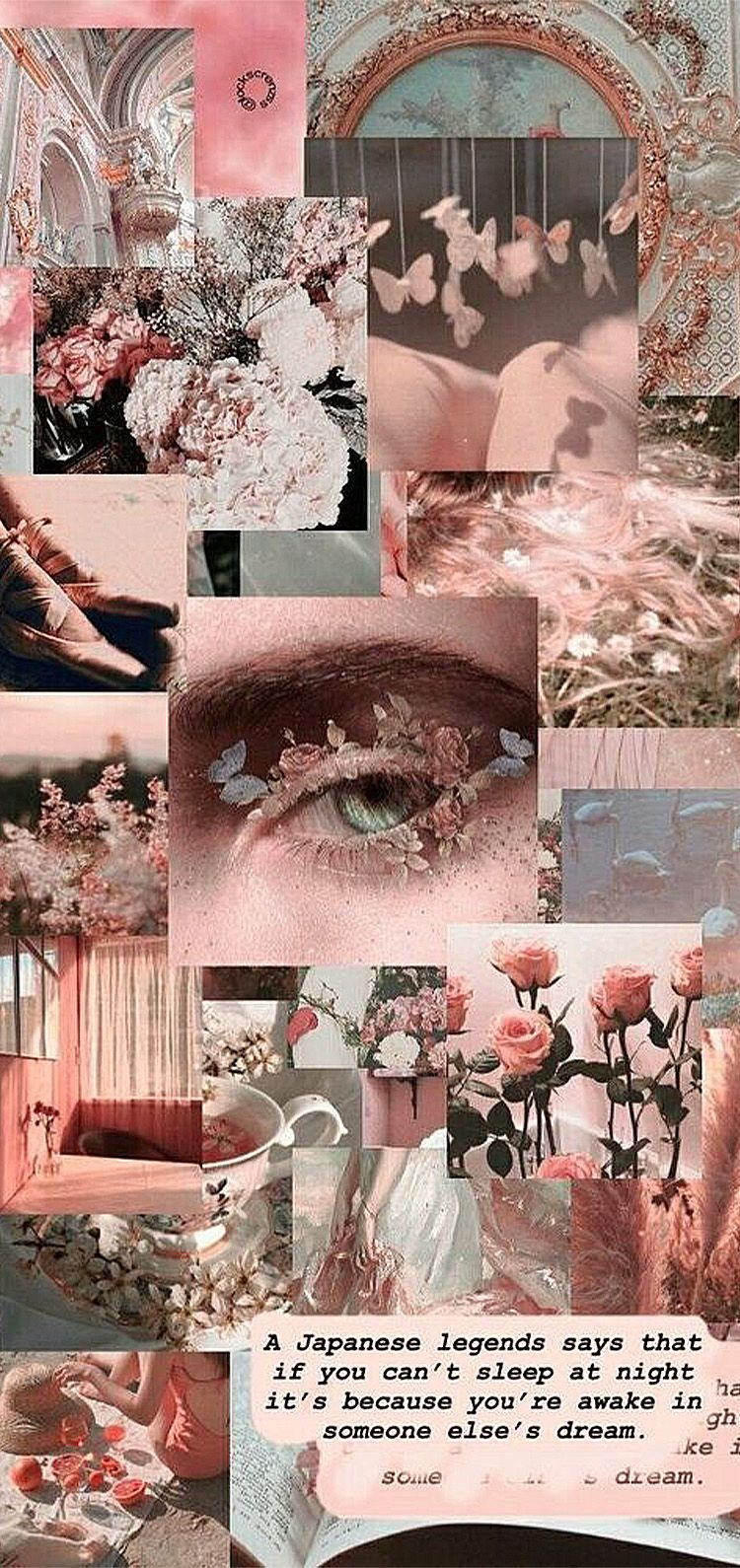 aesthetic pink collage