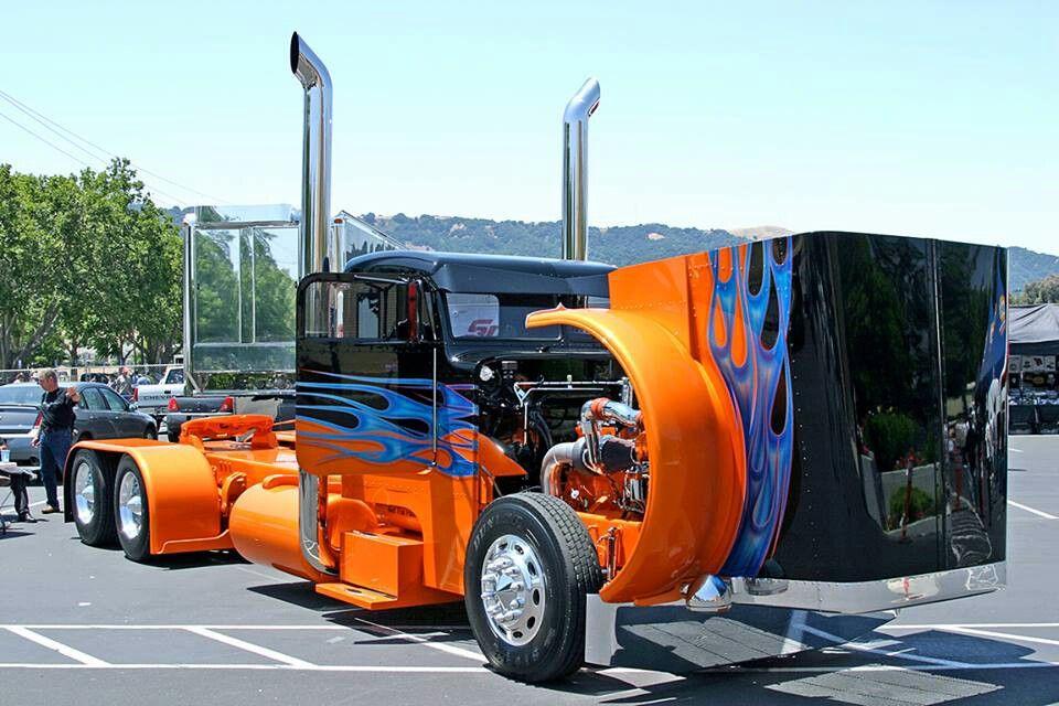Cool paint job Big Trucks Pinterest