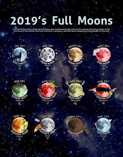 '2019 Vollmond' Poster von Cammerel Dixon