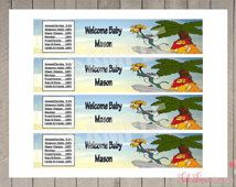 Lion King Baby Shower Water Bottle Personalized Printable