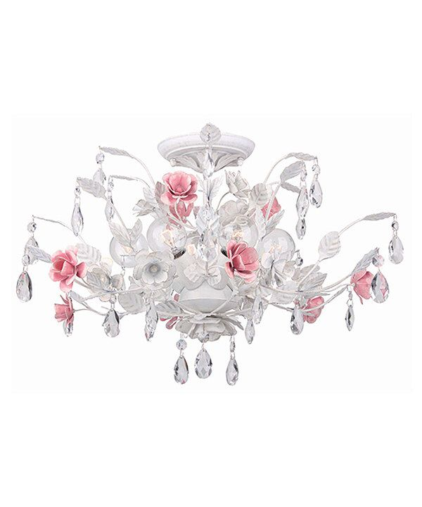 Look at this Wet White Lola Six-Light Chandelier on #zulily today!