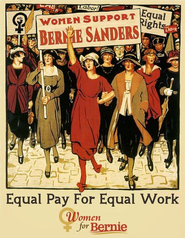 #Women4Bernie #FeelTheBern #Equality4All #BernieStrong #InItToWinIt #WillingToFight #BernieOrBust
