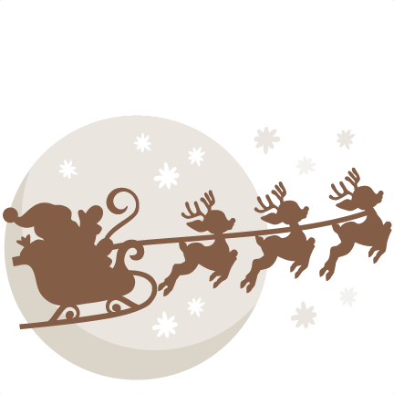 Christmas Eve Santa SVG scrapbook cut file cute clipart files for ...