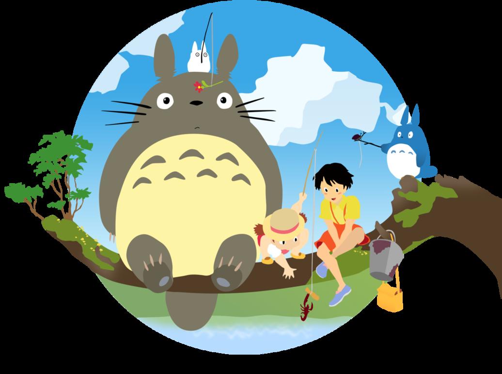 Satsuki and Mei Myneighbourtotoro Totoro Iphone 壁紙 アニメ