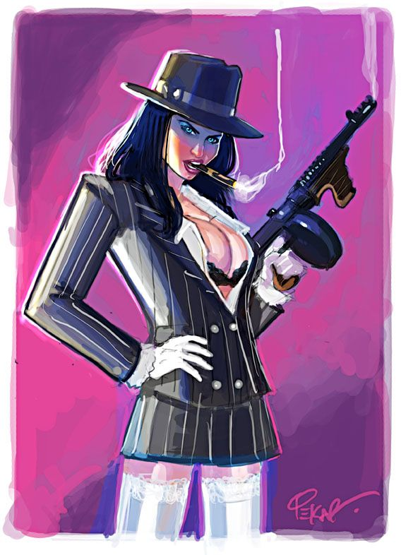 gangster gal by jfury